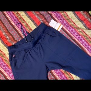 Med couture scrub pants stretchy navy new